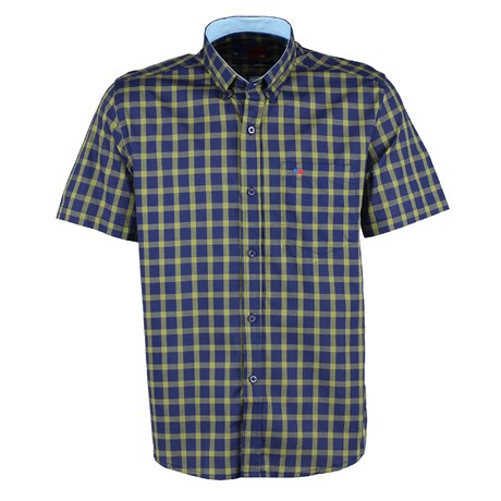 Camisa Masculina Xadrez Verde Manga Curta Smith Brothers 25589