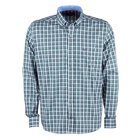Camisa Masculina Xadrez Verde Manga Longa Smith Brothers 25598