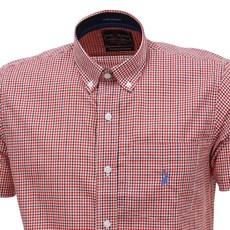 Camisa Masculina Xadrez Vermelha Manga Curta Austin Western 28434