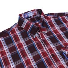 Camisa Masculina Xadrez Vermelho Manga Curta  Rodeo Western 22625