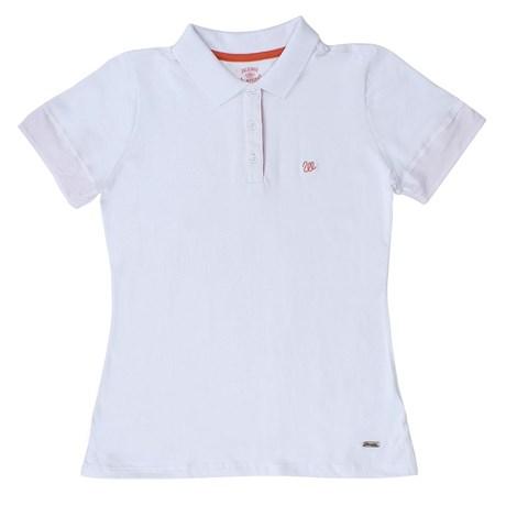 12ad109edc49f Camisa Polo Feminina Branca Wrangler 19776 - Rodeo West
