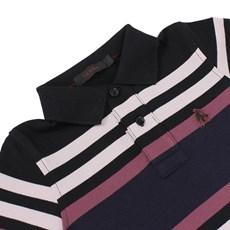 Camisa Polo Infantil Preta Listrada Tassa Boys 21387