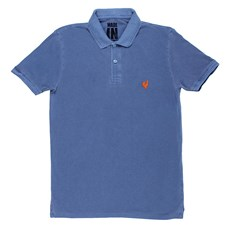 Camisa Polo Made in Mato Original Masculina Stone Azul 24005