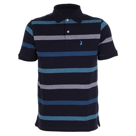 Camisa Polo Masculina Listrada Azul Marinho Austin Western 24763