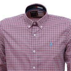 Camisa Rosa Masculina Xadrez Manga Longa Austin Western 28439