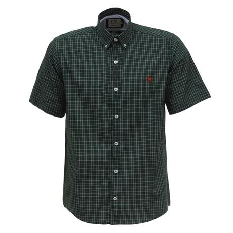 Camisa TXC Manga Curta Masculina Xadrez Verde 26574