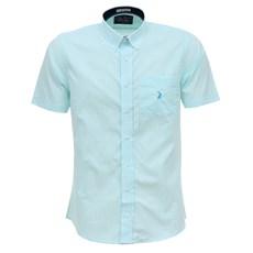 Camisa Verde Quadriculada Masculina Manga Curta Austin Western 27281