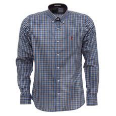 Camisa Xadrez Azul Manga Longa Masculina Austin Western 27286