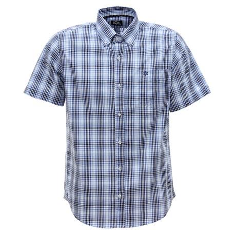 Camisa Xadrez Azul Masculina Manga Curta Tuff 28343