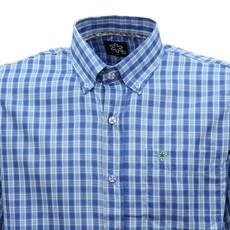 Camisa Xadrez Azul Masculina Manga Curta Tuff 28344
