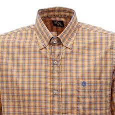 Camisa Xadrez Laranja Masculina Manga Curta Tuff 28342