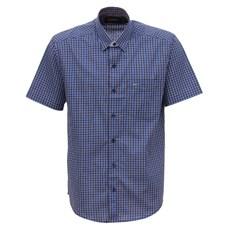 Camisa Xadrez Manga Curta Masculina Azul Fast Back 29452