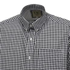 Camisa Xadrez Manga Curta Masculina Preta TXC 26083