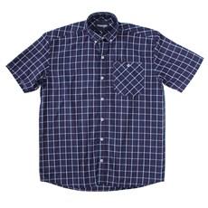 Camisa Xadrez Masculina Azul Manga Curta Original Wrangler 23547