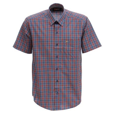 Camisa Xadrez Masculina Manga Curta Azul Fast Back 29459