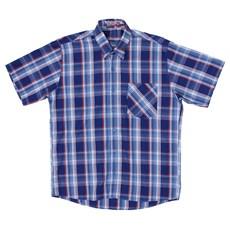 Camisa Xadrez Masculina Manga Curta Azul Rodeo Western 22622