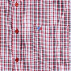 Camisa Xadrez Masculina Manga Curta  Vermelha Smith Brothers 25588