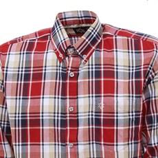 Camisa Xadrez Masculina Manga Longa Vermelha Tuff 27476