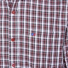 Camisa Xadrez Masculina Marom Manga Longa Smith Brothers 25600