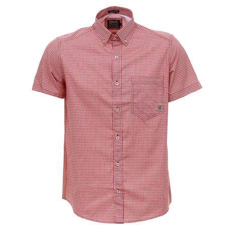 Camisa Xadrez Vermelha Manga Curta Masculina TXC 27956