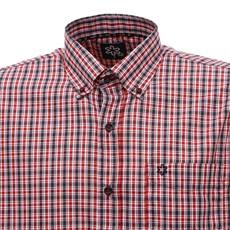 Camisa Xadrez Vermelha Masculina Manga Curta Tuff 28341