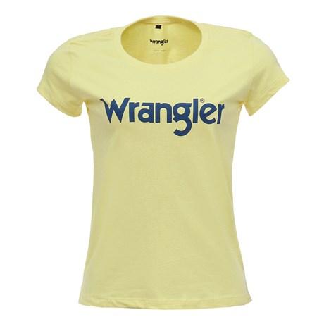 Camiseta Amarela Feminina Básica Wrangler Original 28260