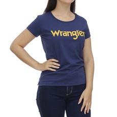 Camiseta Azul Feminina Básica Original Wrangler 28653