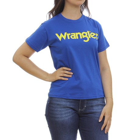 Camiseta Azul Feminina Básica Wrangler 30080