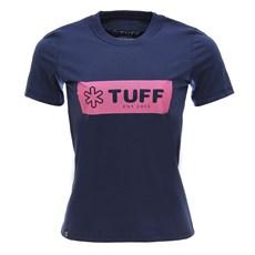 Camiseta Azul Marinho Feminina Baby Look Básica Tuff 28356