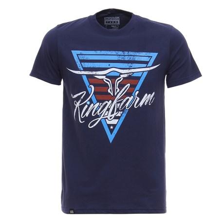 Camiseta Azul Marinho King Farm Masculina 28006
