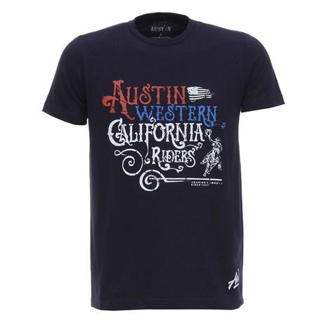Camiseta Azul Marinho Masculina Estampada Austin Western 28021