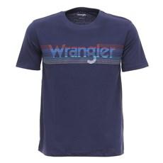 Camiseta Azul Marinho Masculina Wrangler Original 28030