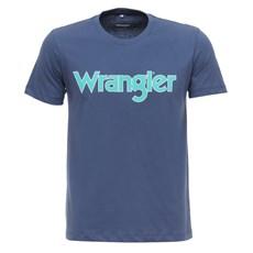 Camiseta Azul Masculina Básica Wrangler Original 28264