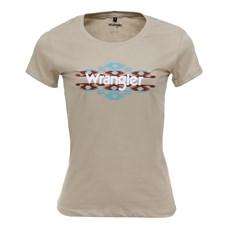 Camiseta Baby Look Feminina Bege Original Wrangler 26619