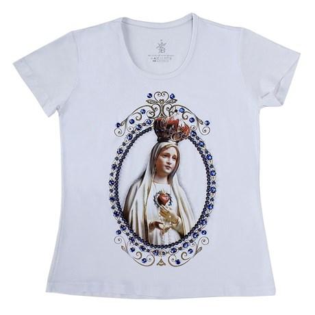 Camiseta Baby Look Feminina Branca Top Bulls 21815
