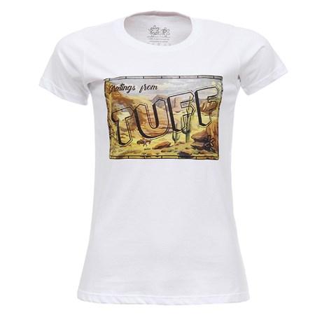 Camiseta Baby Look Feminina Branca Tuff 27444