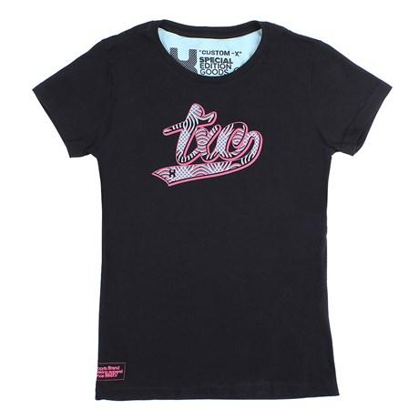 Camiseta Baby Look Feminina Preta TXC 26088