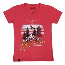 Camiseta Baby Look Rosa Feminina King Farm 23754