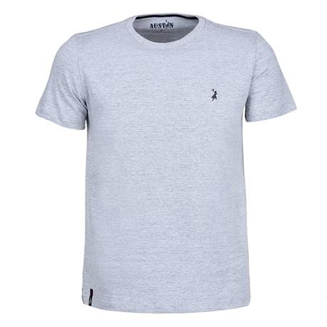 Camiseta Básica Masculina Cinza Mescla Austin Western 25059