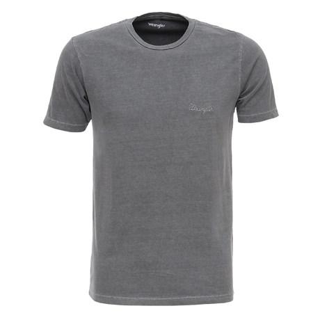 Camiseta Básica Masculina Cinza Wrangler Original 26608
