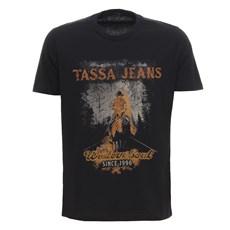 Camiseta Básica Masculina Preta Tassa 29921