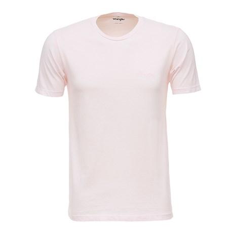 Camiseta Básica Masculina Rosa Original Wrangler 26613