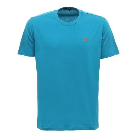 Camiseta Básica Masculina Verde Turquesa Tassa 29920