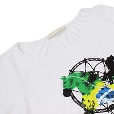 Camiseta Branca Básica Feminina Estampada Tassa Gold 21390