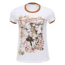 Camiseta Branca Feminina Tassa Estampada 28153