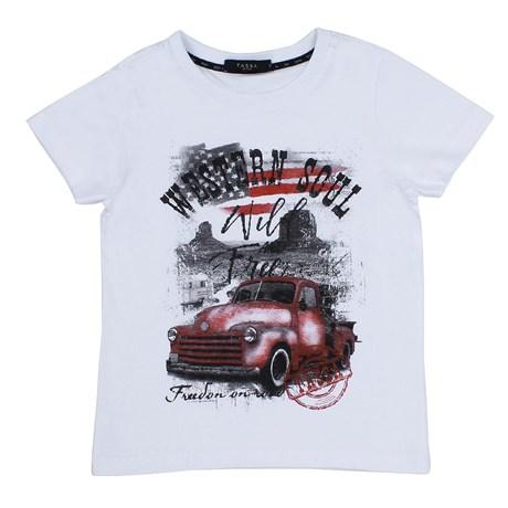 Camiseta Branca Infantil Tassa Boys 23856
