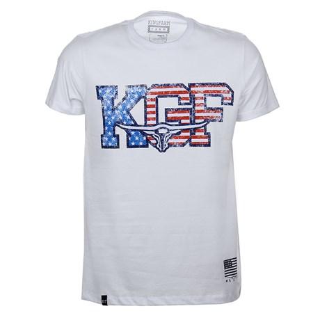 Camiseta Branca Masculina Estampada King Farm Original 25715
