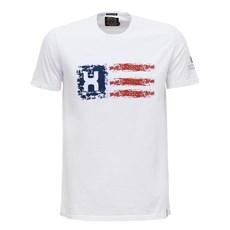 Camiseta Branca Masculina Estampada USA TXC 29349