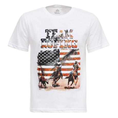 Camiseta Branca Masculina Team Roping Texas Diamond 27840
