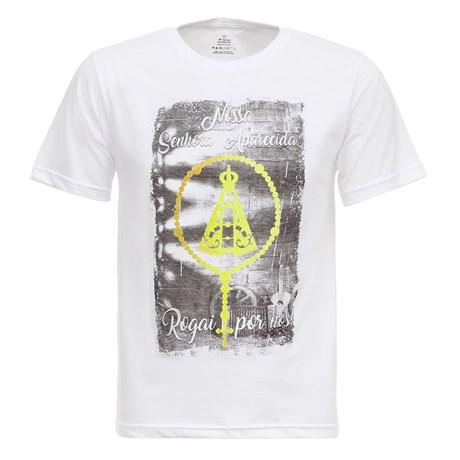 Camiseta Branca Nossa Senhora Aparecida Masculina Texas Diamond 27812
